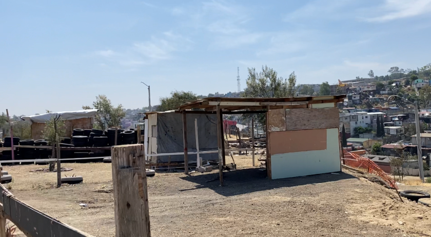 Hundreds of residents are building makeshift cabins in one of Tijuana's public parks.