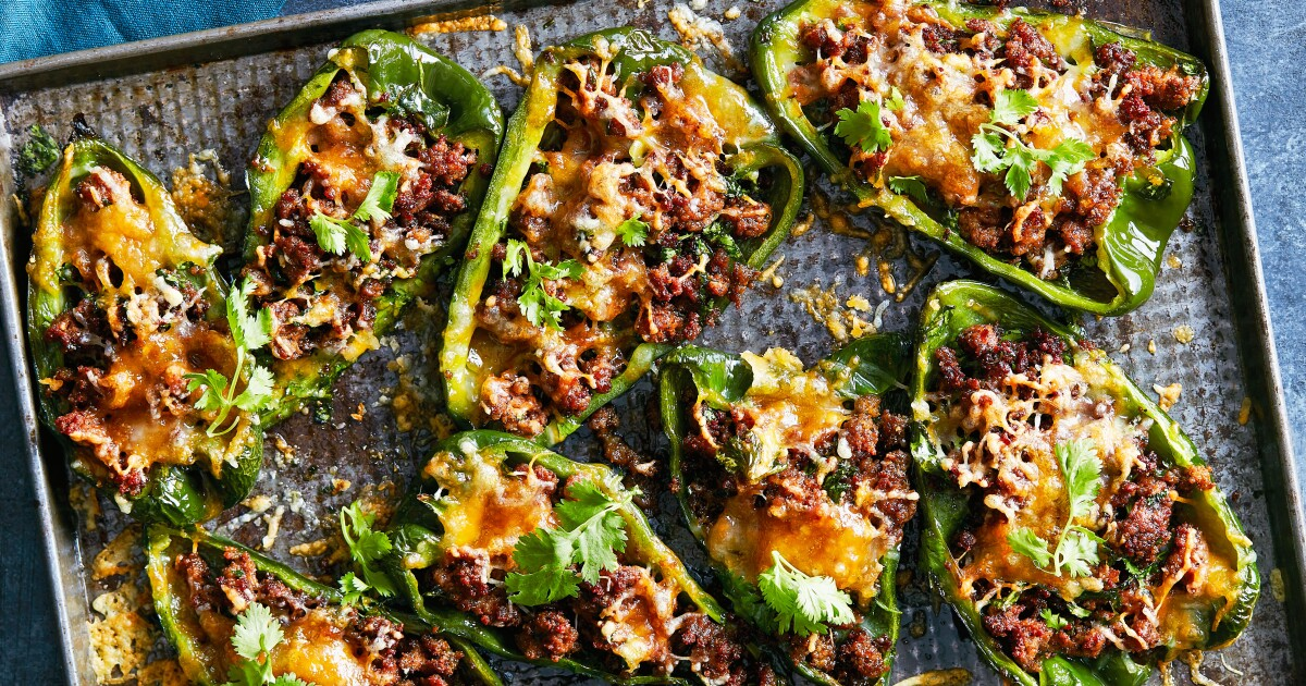 Stuffed poblanos adhere to Keto diet