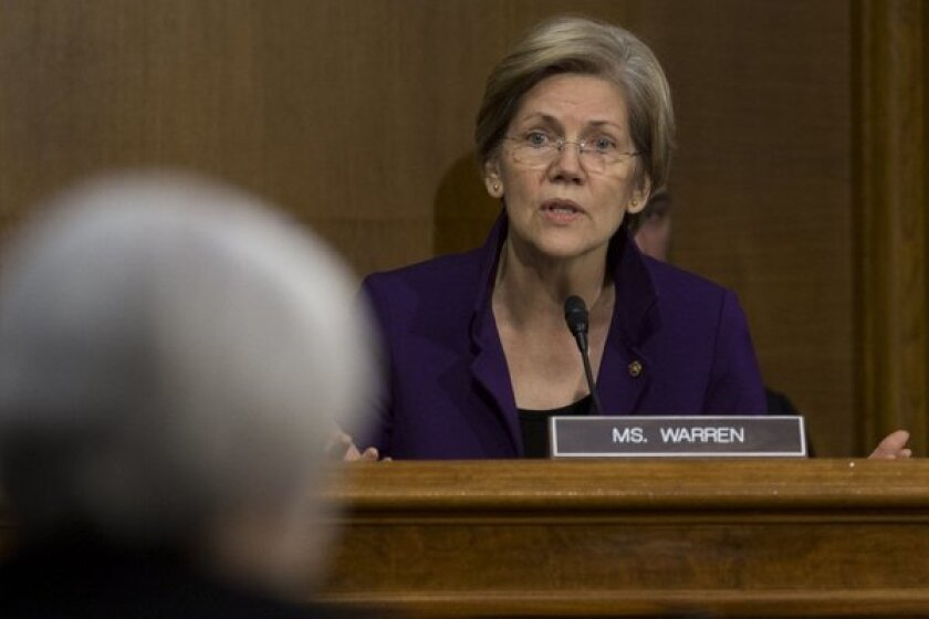 Elizabeth Warren, carrying the flag for the expansion of Social Security
