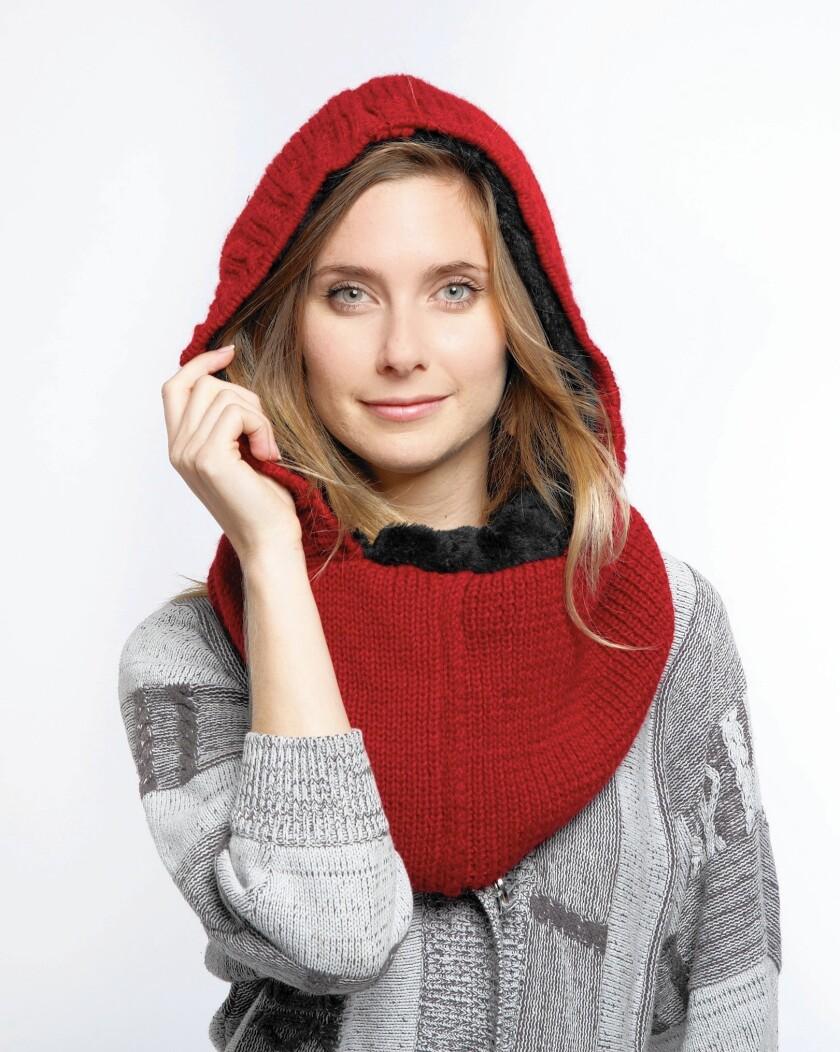 Wild Mantle Alpaca hooded scarf