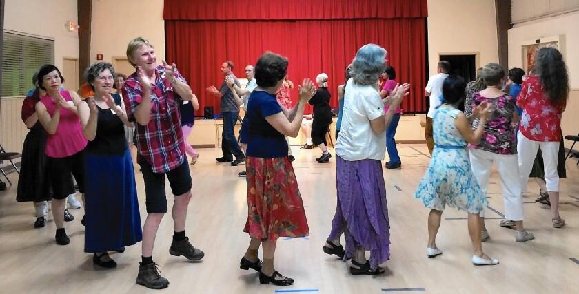 International Folk Dance class