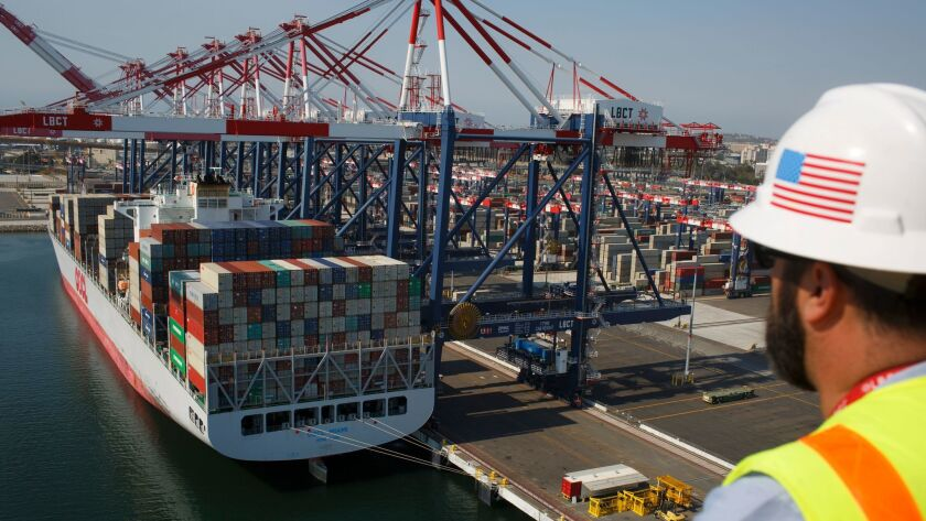 LONG BEACH, CA. -- FRIDAY, JULY 14, 2017 -- John Beghin, of the Long Beach Container Terminal at the