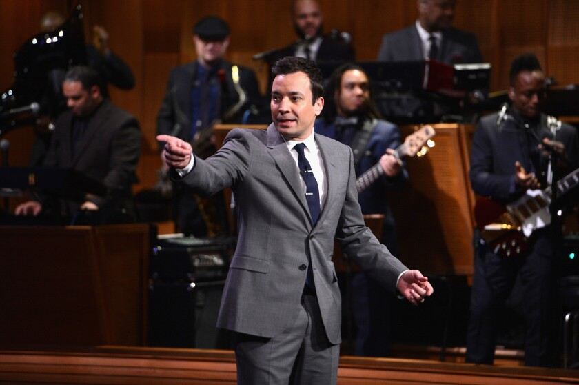 "Jimmy Fallon's ""Tonight Show"" is nominated for the best humor website Webby Award."
