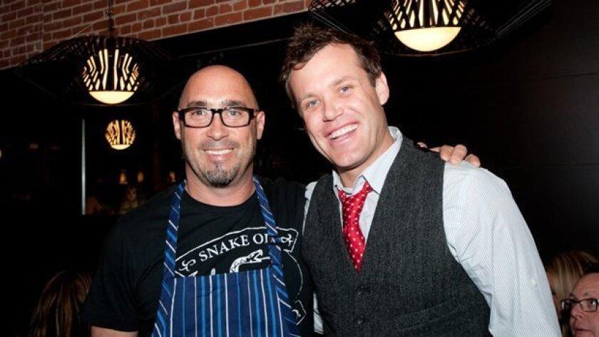 Antonio Friscia and Brian Malarkey at Gaijin Noodle + Sake House VIP Preview Party - DiscoverSD