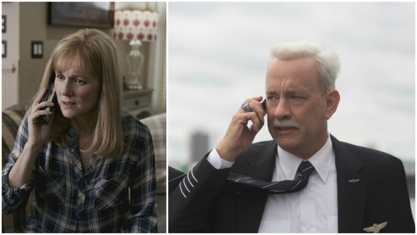 """Laura Linney and Tom Hanks in """"Sully."""""""