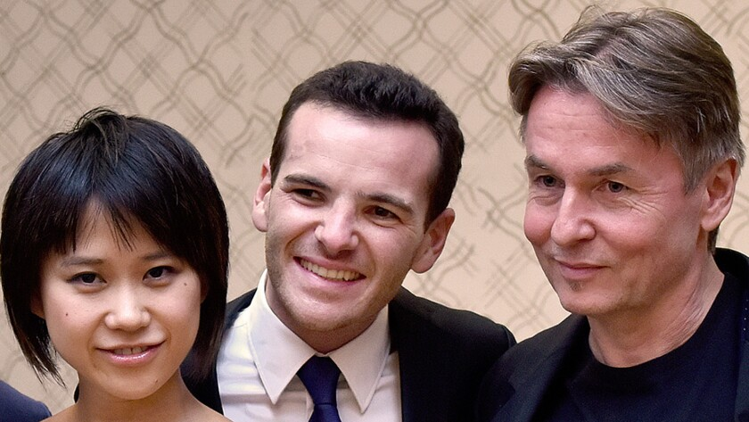 Yuja Wang, Lionel Bringuier, and Esa-Pekka Salonen