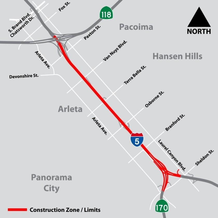 Caltrans announces full closure of northbound I-5 north of