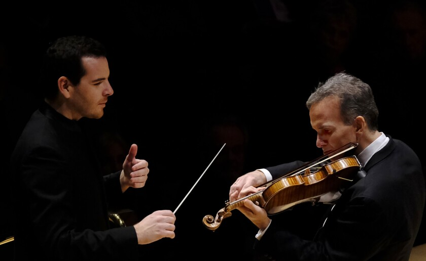 Lionel Bringuier and Gil Shaham
