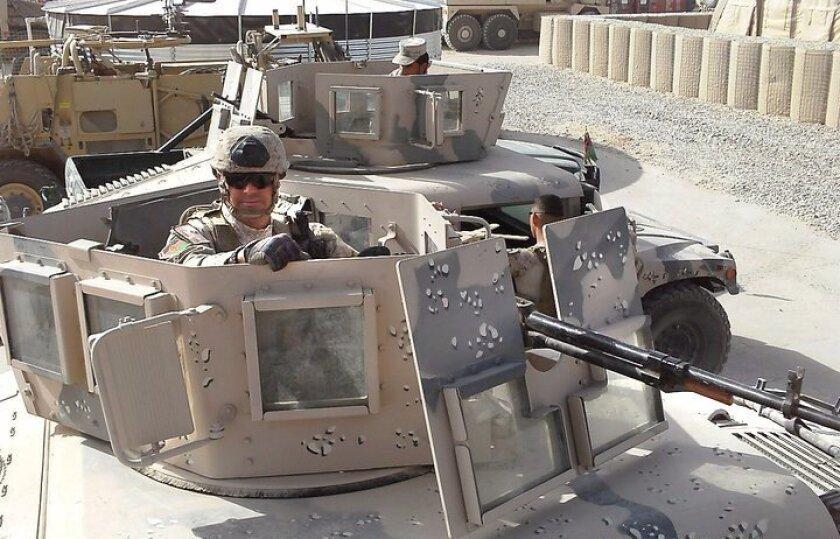 John Szczepanowski, Marine Corps gunnery sergeant, in Afghanistan, 2010