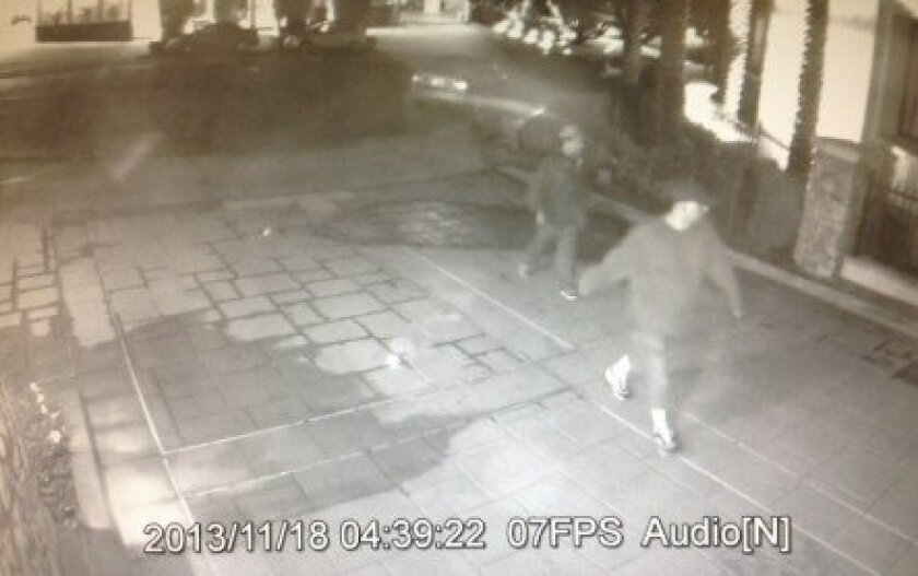These suspects were filmed entering the Montefaro condominium complex early Monday morning, Nov. 18, when three bicycles were stolen from the garage of the gated community.
