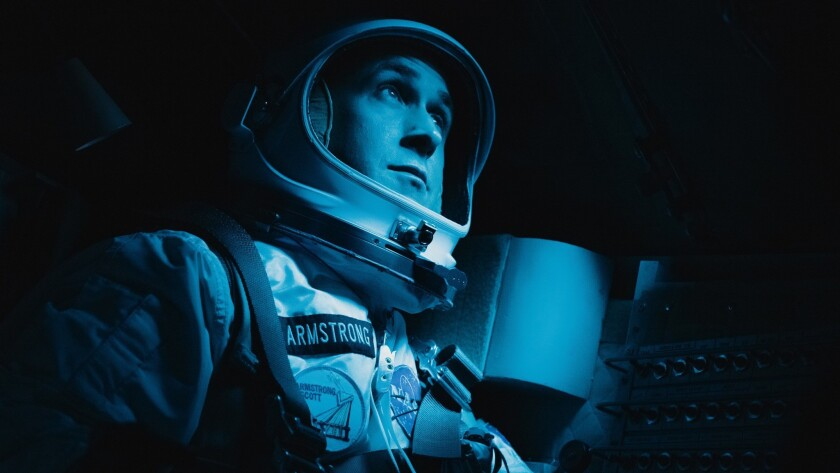 "Ryan Gosling in a scene from Damien Chazelle's ""First Man,"" which had its North American premiere at the Telluride Film Festival."