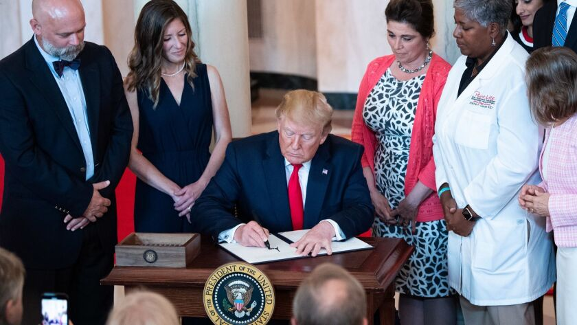 President Trump Signs and Executive Order to Improve Healtecare Billing Transparancy at the White House, Washington, USA - 24 Jun 2019