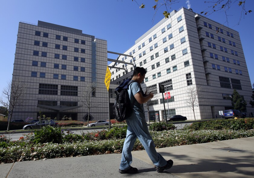 UCLA's Ronald Reagan Medical Center in Westwood.