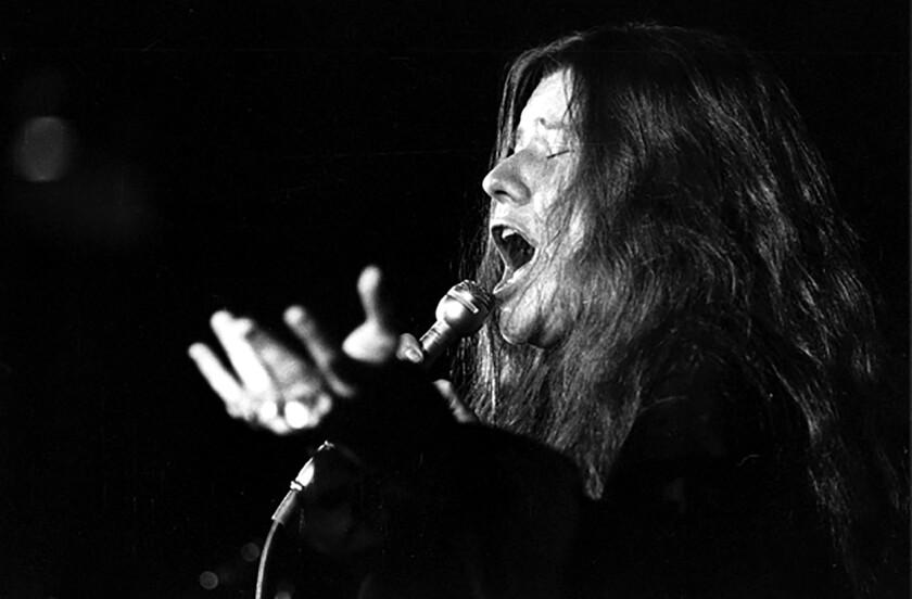 Janis Joplin in performance.