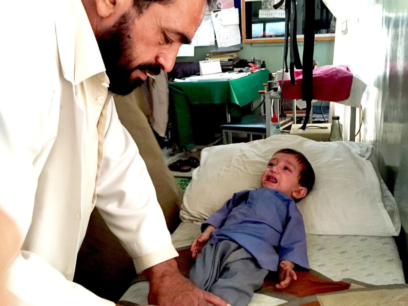 This boy could be one of the world's last victims of polio - Los