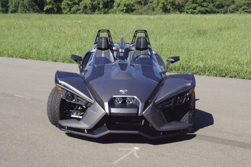 Polaris Industries has taken the wraps off its new Slingshot roadster, a three-wheeled street buggy.