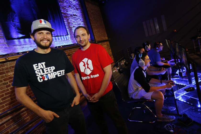 Tyler Endres, left, and Paul Ward are co-founders of ESports Arena, a venue operator that's expanding to Oakland this year.