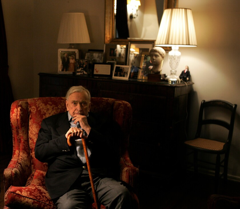 Writer Gore Vidal at his Hollywood Hills home in 2006.