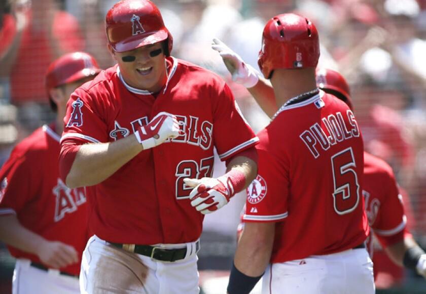 Garrett Richards cruises after Angels score nine in first inning