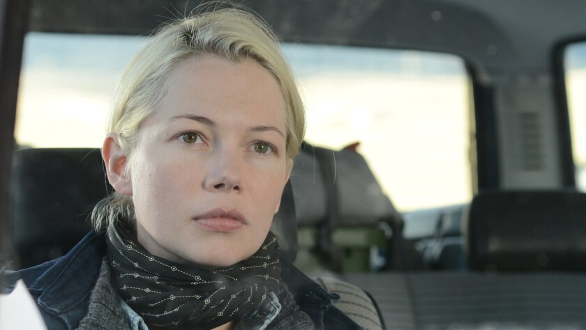"Michelle Williams in a scene from ""Certain Women."""
