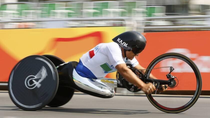 Alex Zanardi en los Juegos Paralímpicos Río 2016.