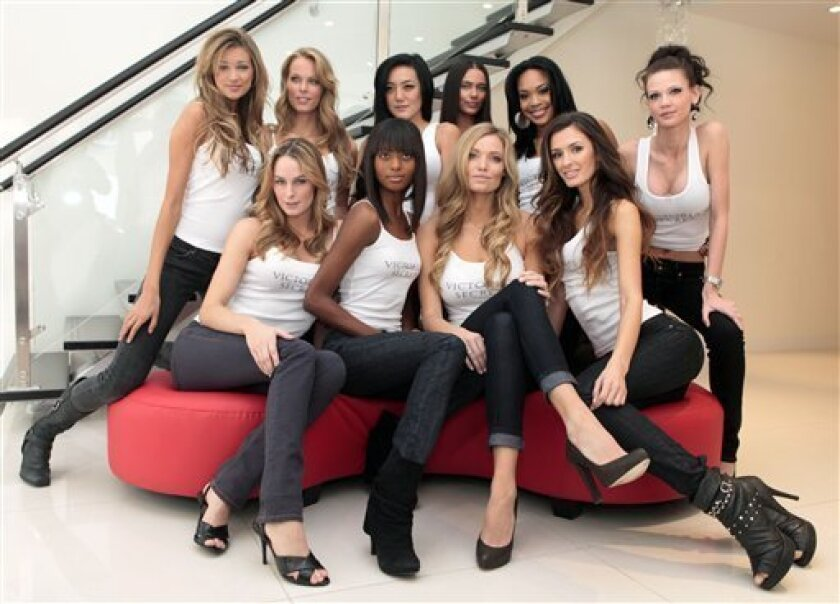 This photo taken Nov. 5, 2009 shows the ten finalists competing to be the next Victoria's Secret Runway Angel. Top row, left to right are: Kylie Bisutti, 19, Simi Valley, Ca.; Krystina Holbrook, 20, El Dorado Hills, Ca.; Catharina Lee, 20, Washington, D.C.; Alicia Hall, 24, Las Vegas; Raven Ervin,