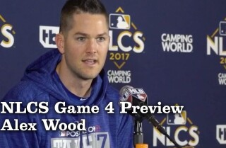 Alex Wood on starting the potential series winning NLCS Game 4