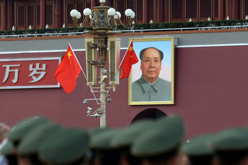 """New Communist Party slogans in China are stressing """"traditional"""" culture and values. Above, Tiananmen Gate."""