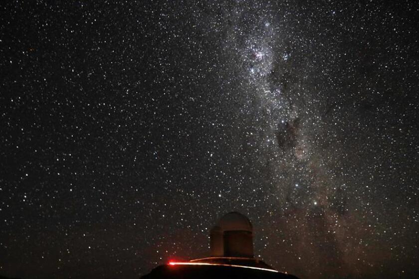 A photograph dated Jan. 28, 2019, showing the night sky over the La Silla Observatory, with the Milky Way in the background, in Cerro La Silla, Chile. EPA-EFE/Alberto Valdes