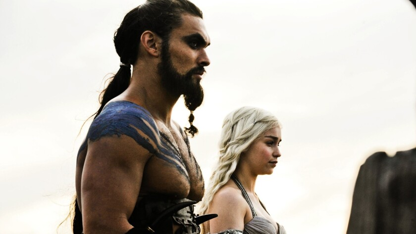 "Peterson created the Dothraki language, spoken by Khal Drogo (Jason Momoa) and others in ""Game of Thrones."""