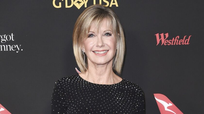 Olivia Newton-John attends the 2018 G'Day USA Los Angeles Gala at the InterContinental Hotel Los Angeles on Jan. 27, 2018.