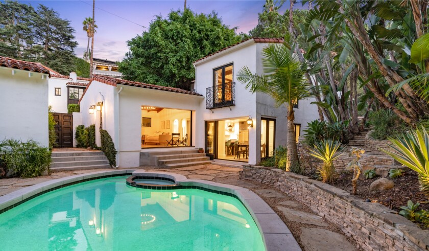 Built in 1926, the Spanish-style spot once served as the model home for the Hollywoodland development.
