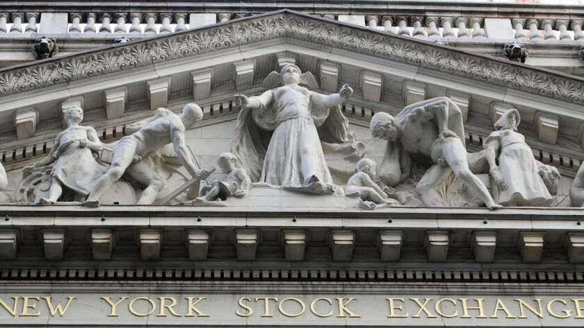 FILE - This Oct. 18, 2016 file photo shows the New York Stock Exchange building in New York. Europ
