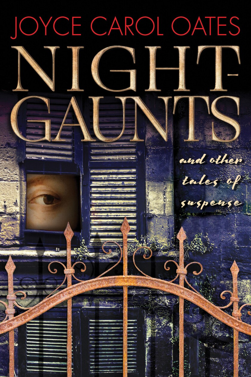 """Book jacket for """"Night-Gaunts and Other Tales of Suspense"""" by Joyce Carol Oates"""