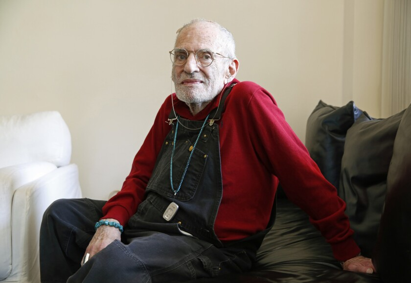 "Playwright Larry Kramer in 2015, after the publication of his last major project, the novel ""The American People."""