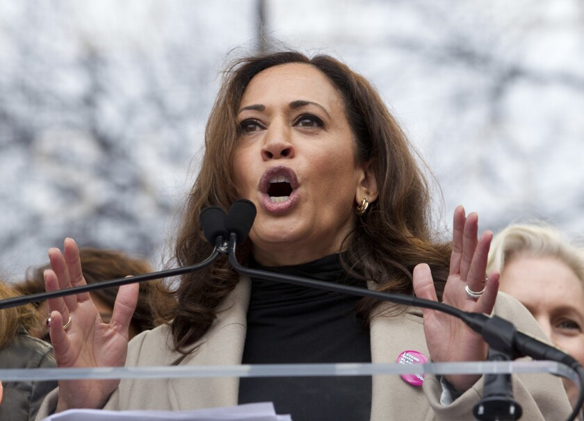 Kamala Harris has been a U.S. senator for less than a month, but the California Democrat is already being mentioned as a possible presidential candidate in 2020.