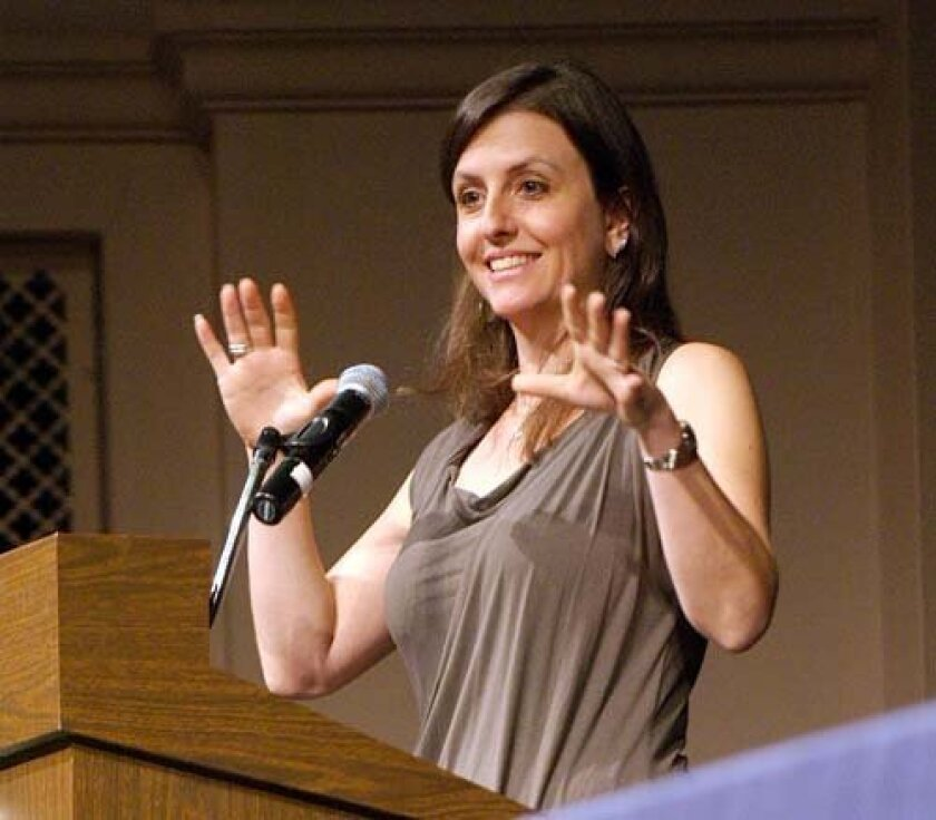 Rebecca Skloot talks about her book about Henrietta Lacks. Photo: Alan Decker