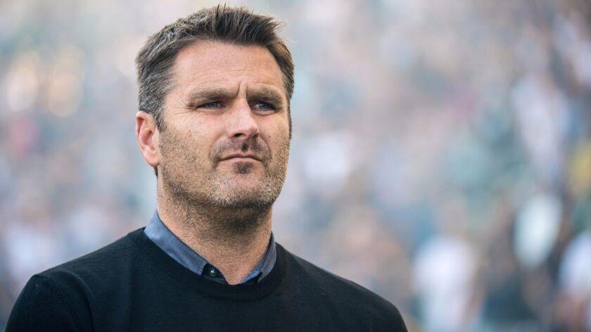 CARSON, CA - MARCH 12: Los Angeles Galaxy Head Coach Curt Onalfo prior to Los Angeles Galaxy's MLS