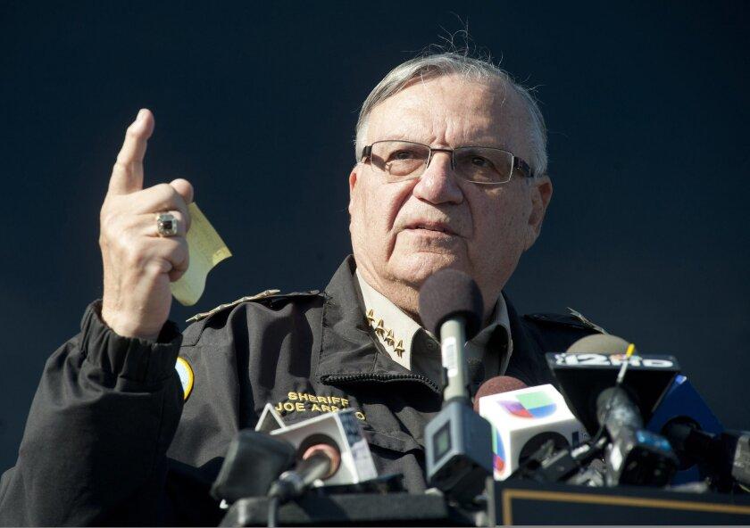 Sheriff Joe Arpaio. REUTERS/Laura Segall/File photo