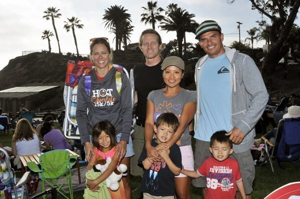 Allison Wirth with Macy, Steve Sessions, Khanhlinh Nguyen with Julian, Rob Epple with Dominik