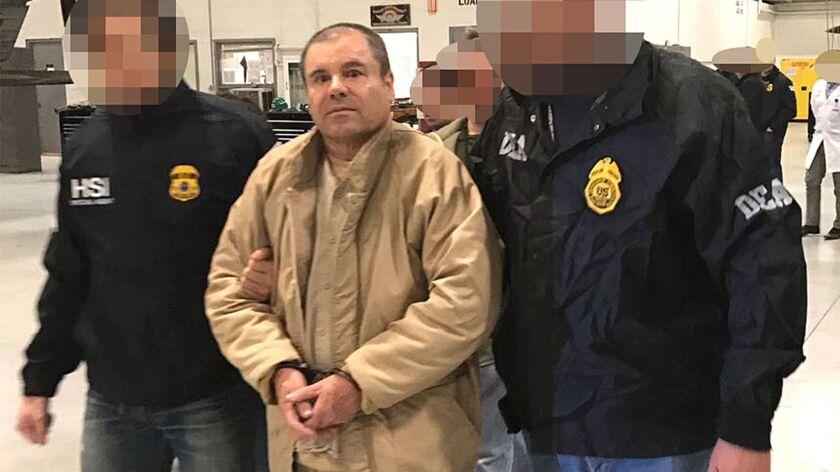 "Mexican drug lord Joaquin ""El Chapo"" Guzman in 2017."