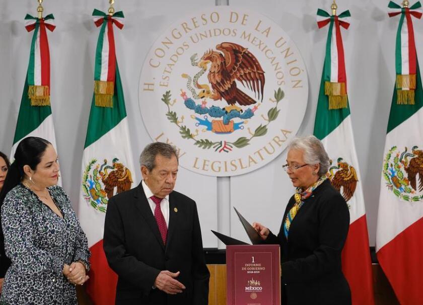 El Congreso mexicano recibe el primer informe de Gobierno de López Obrador