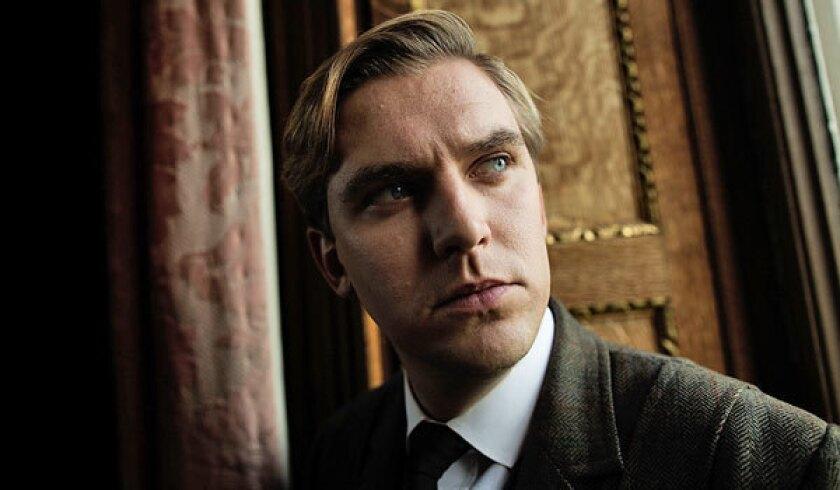 "Dan Stevens during filming of Season 3 of ""Downton Abbey."""