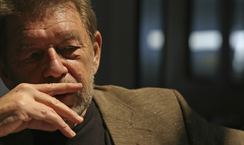 Pete Hamill at the Skylight Diner in New York