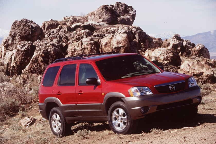 Mazda is recalling 109,000 of its Tribute SUVs from the 2001-04 model years to fix an issue with the front suspension.
