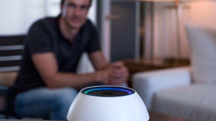 Think of this voice-controlled home automation system as Alexa on steroids. Credit: Josh.ai