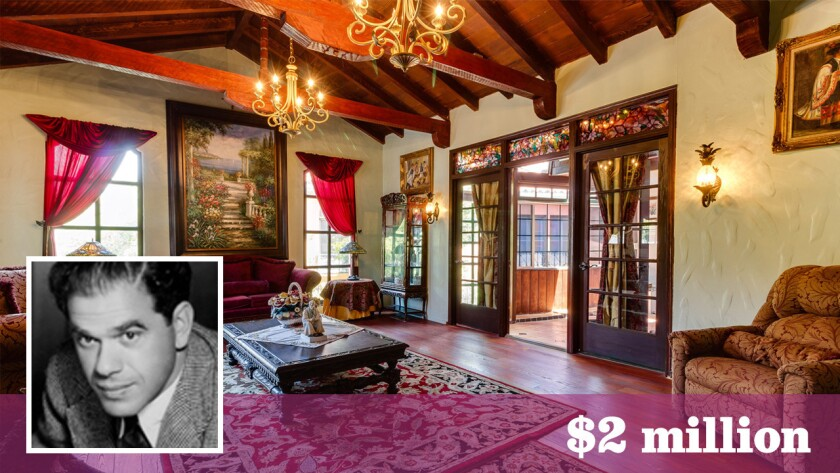 The Spanish Revival-style home, built for film director Frank Capra, has come on the market in the Hollywood Dell neighborhood for $2 million.
