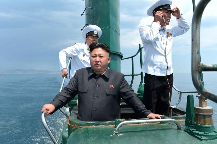 Kim Jong Un on a submarine