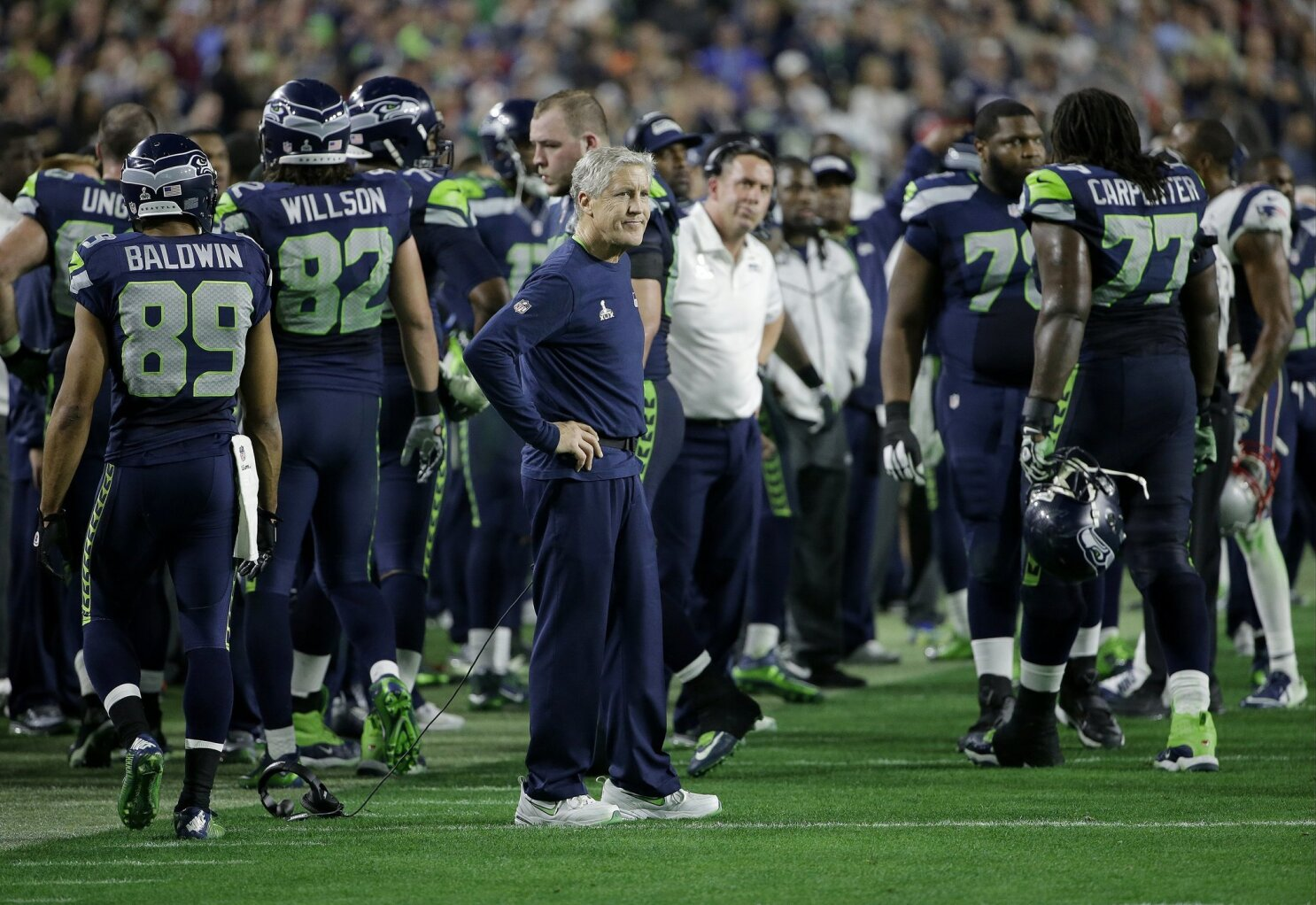 2a09f55a5 Pete Carroll makes the worst play call in Super Bowl history - The San  Diego Union-Tribune