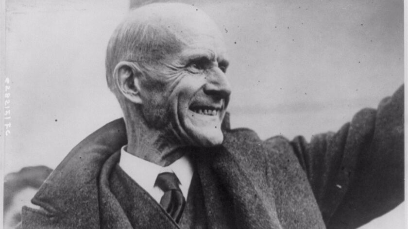 Eugene V. Debs, who repeatedly ran for president on a socialist platform in the early 20th century, leaves prison on Dec. 25, 1921.